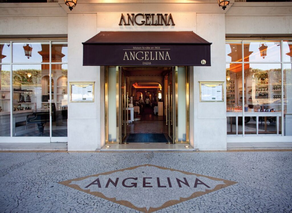 "кафе ""Angelina"", Париж"