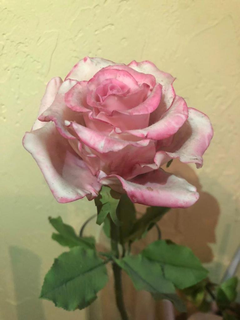 роза из полимерной глины ручная работа автор Марина Фармагей