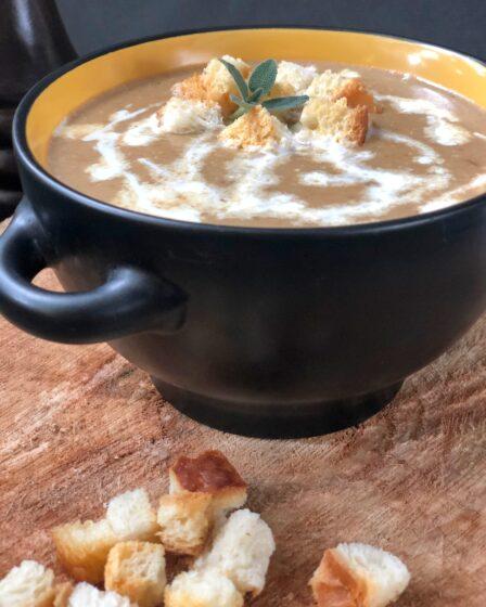 суп-пюре из сушеных белых грибов